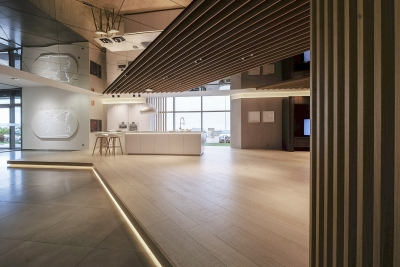 proyecto arquitectura showroom exclusivo porcelanosa