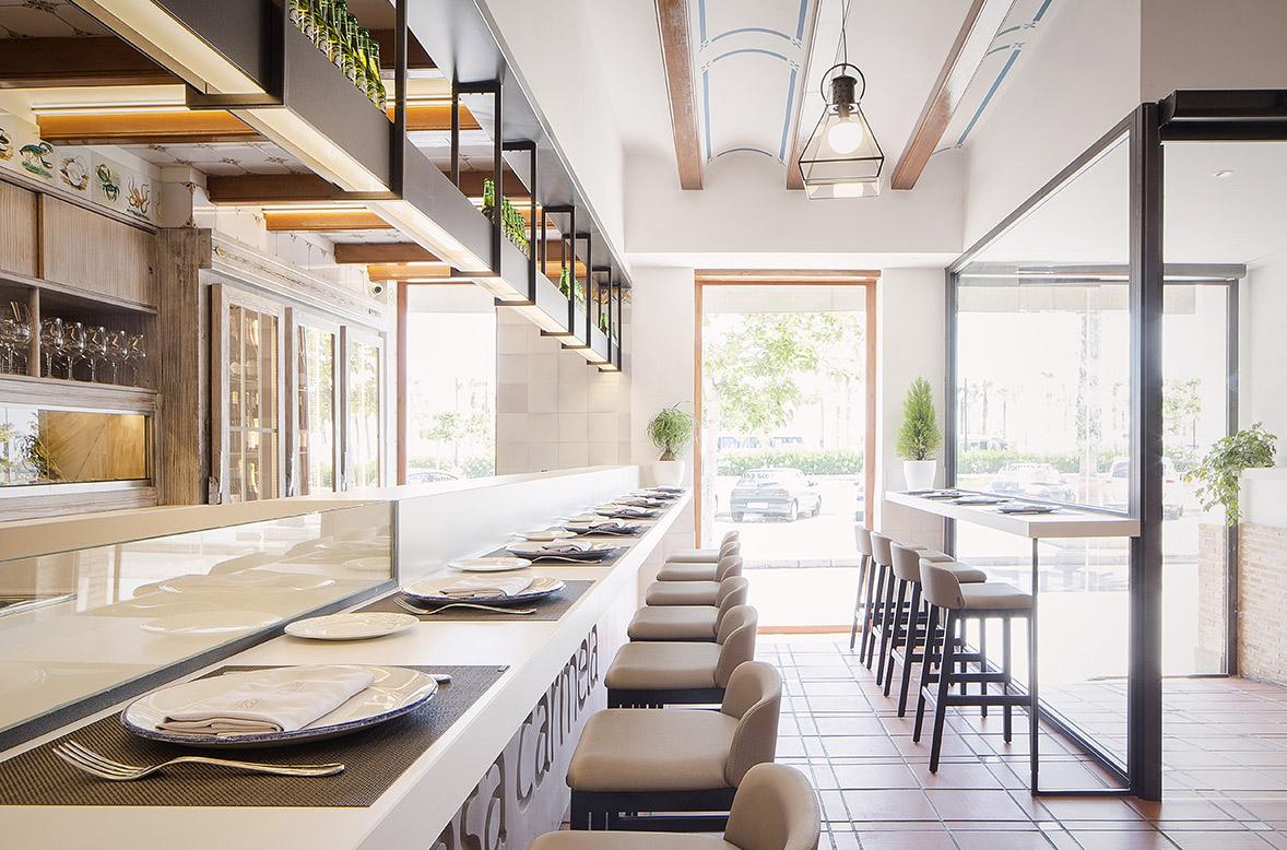 proyecto interiorismo reforma integral restaurante lujo casa carmela valencia