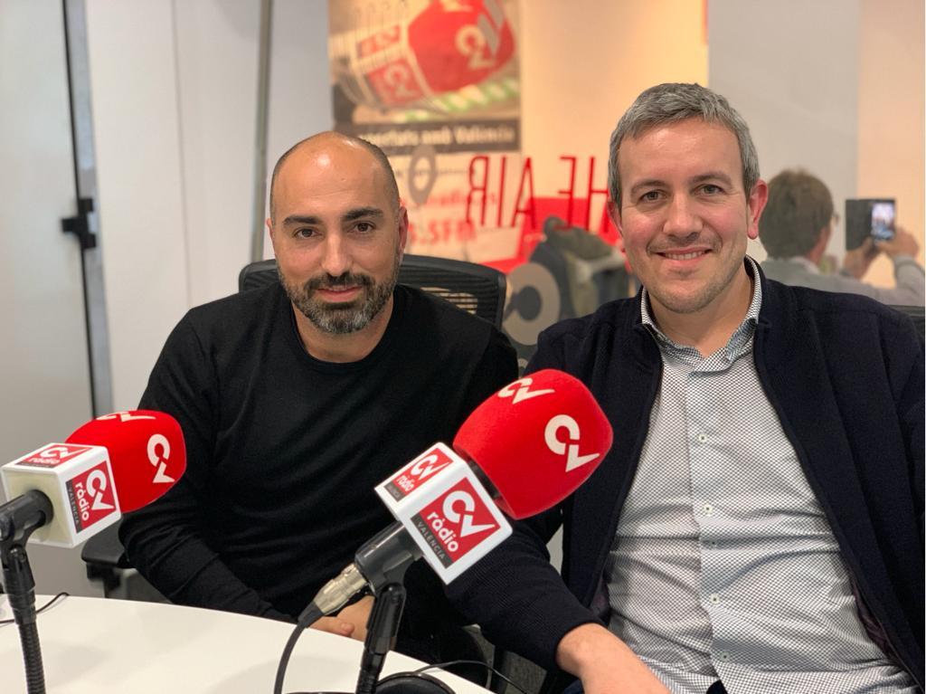 paco sanchís de enne estudio con lluis llopis de elo construcciones en cv radio hablan de arquitectura en Valencia
