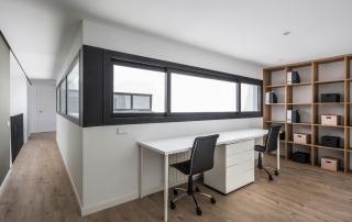 vivienda nueva planta, estructura metalica, patio interior, zona estudio, elo construcciones, constructora valencia